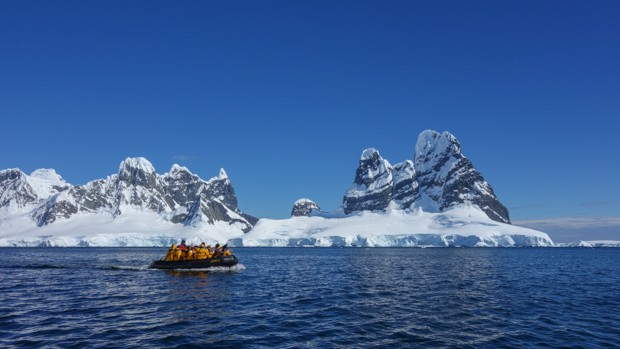 Zodiac excursion in Antarctica.