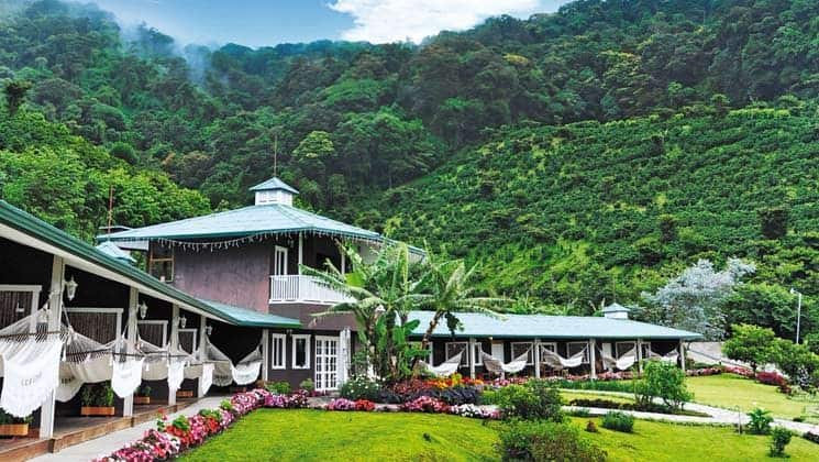 Exterior of Finca Lerida Lodge at base of Volcan Baru in Panama