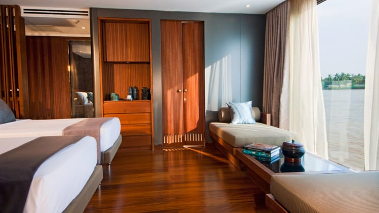Aqua Mekong Design Suite without Balcony and Twin bedsSet Up
