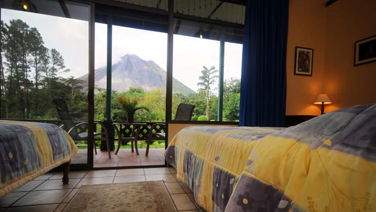 Smithsonian Room with two beds and volcano view at Arenal Observatory Lodge in Costa Rica
