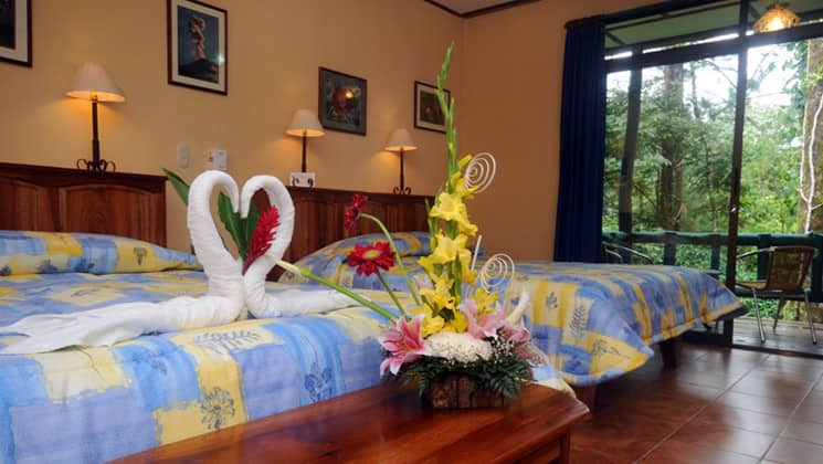 Standard Room with two beds at Arenal Observatory Lodge in Costa Rica