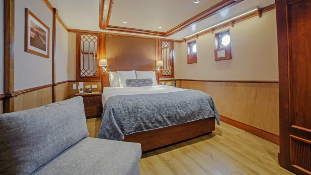 Premium Stateroom with queen bed aboard Grace