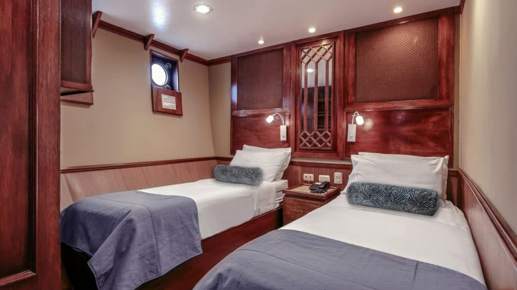 Deluxe Stateroom C3 with twin beds aboard Grace