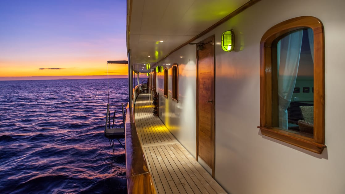 Balcony view of staterooms.