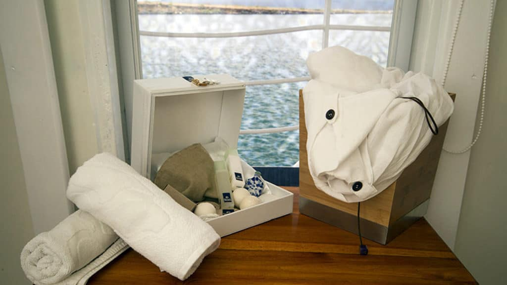 Amenities special to the Legend Balcony Suite aboard Galapagos Legend