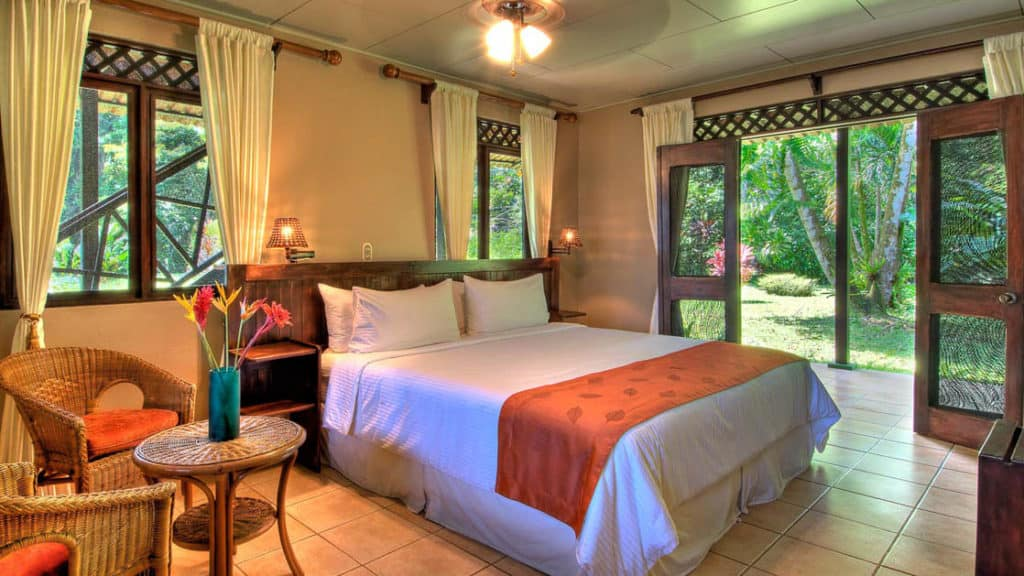 River View Downstairs Room with King Bed at Tortuga Lodge