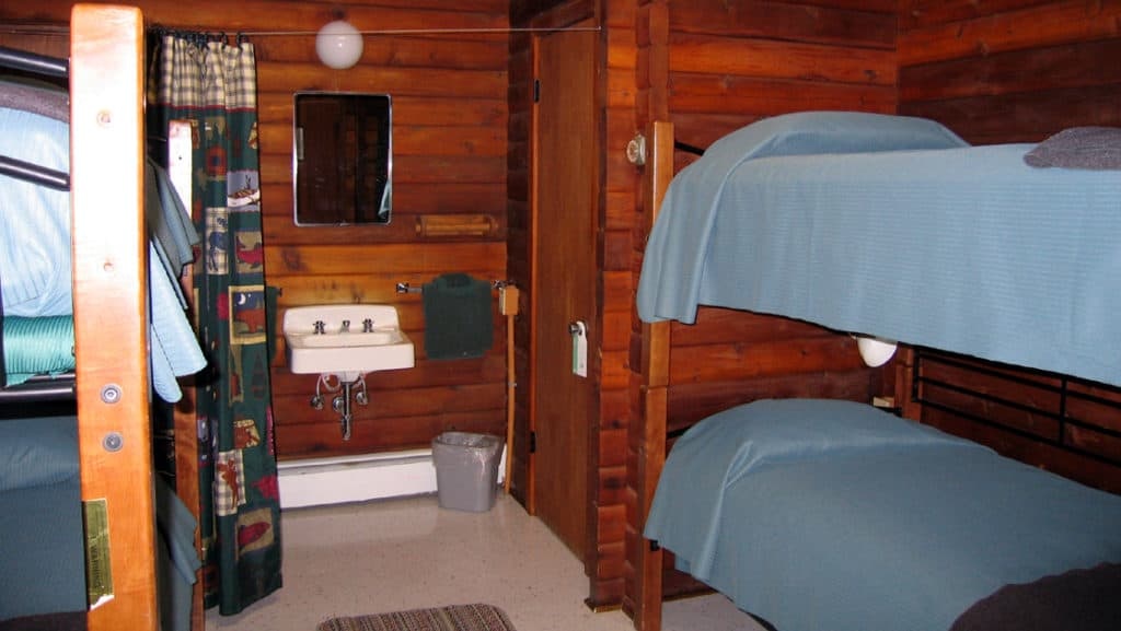 All cabins have 2 sets of bunk beds at Brooks Lodge. Photo by: Melissa Ackerman