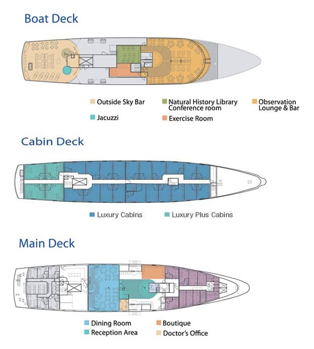 la pinta small ship deck plan with multiple levels