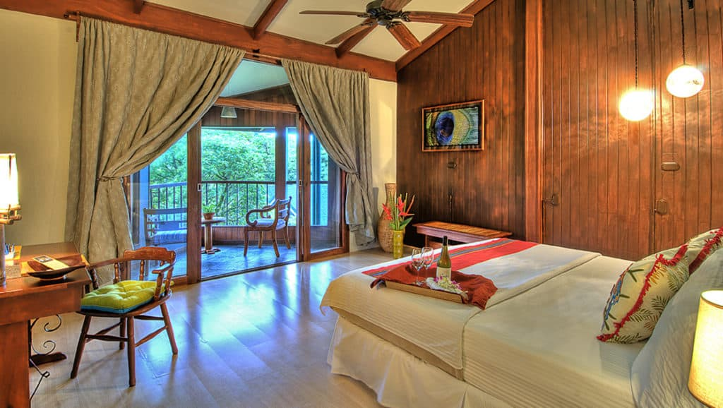 Forest View Balcony Room with King Bed at Monteverde Lodge