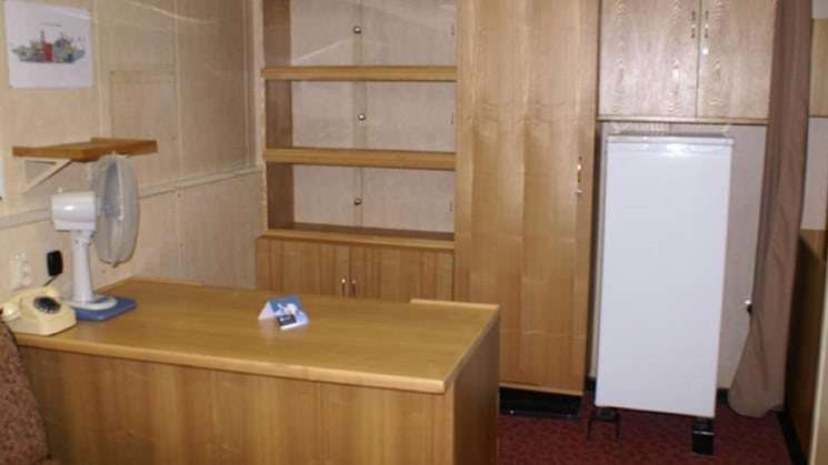 50 Years of Victory, Victory suite with small refridgerator, shelves and counter space