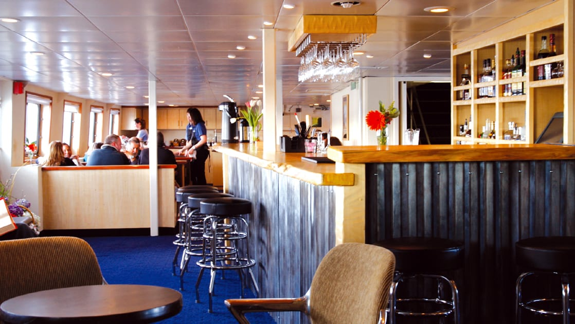 Bar area aboard Wilderness Discoverer