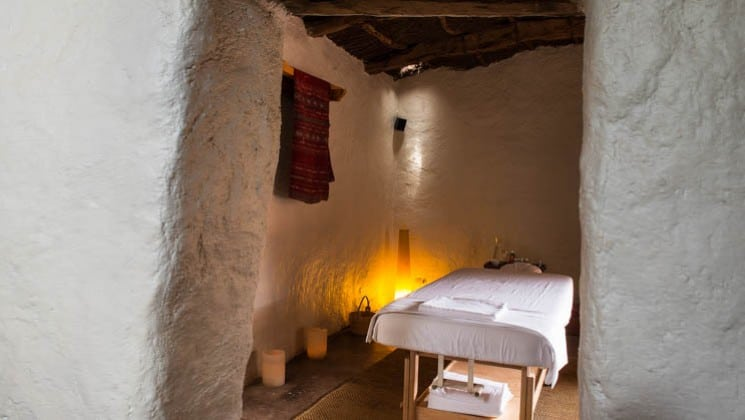 Relax in the traditional adobe massage room