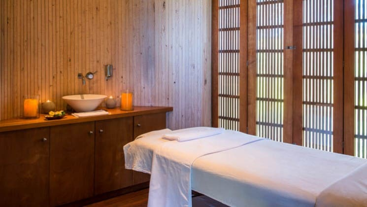 Relax after a day of exploration in the massage room