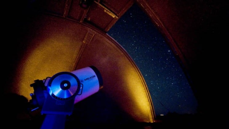 Enjoy nightly viewings at the lodge's private observatory
