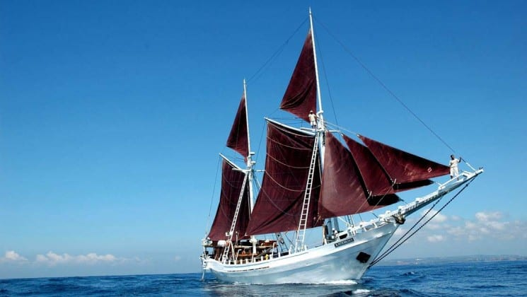 Katharina sailing vessel in Indonesia.