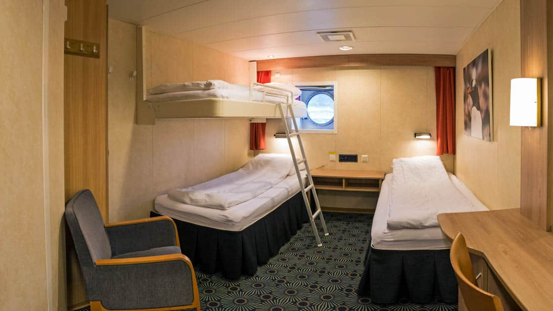Category 1 Triple cabin aboard Expedition.