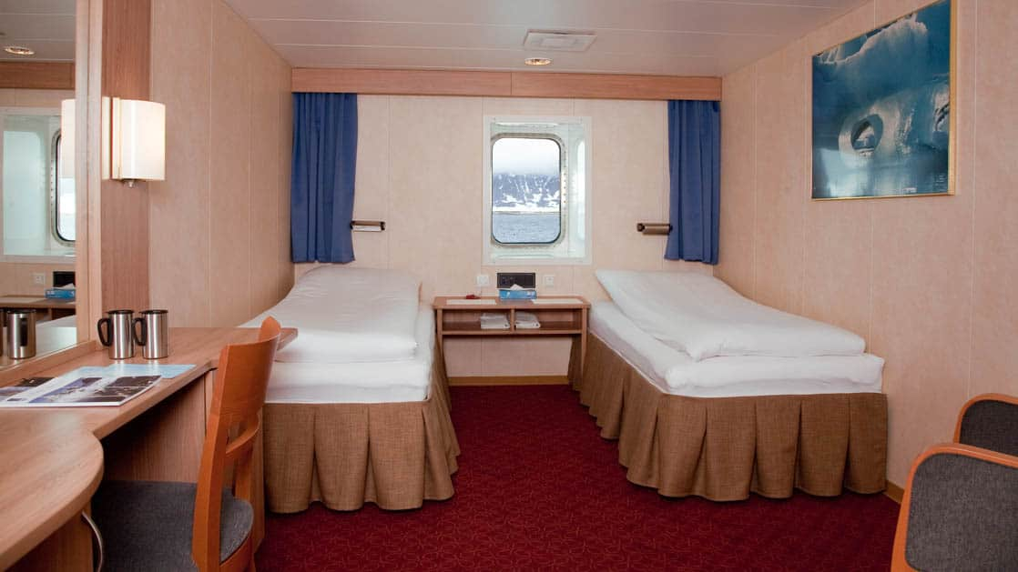 Category 3 cabin aboard Expedition. Photo by: Erik Berger