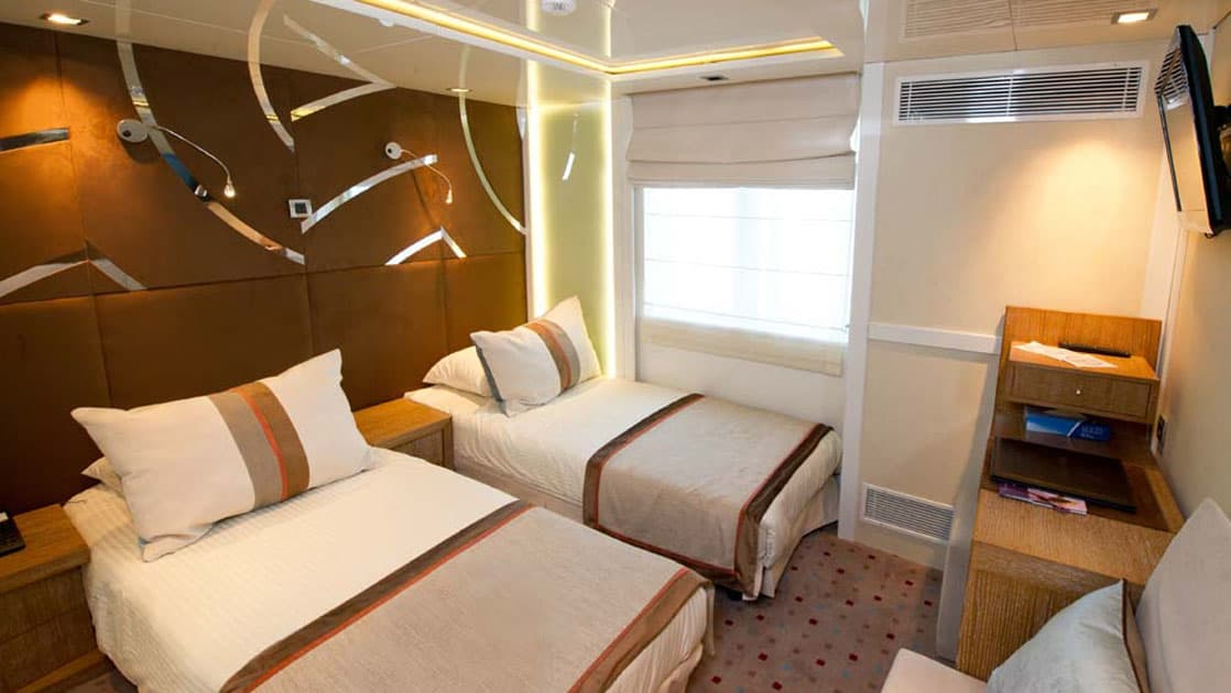 Category B cabin with 2 twin beds aboard Varitey Voyager.