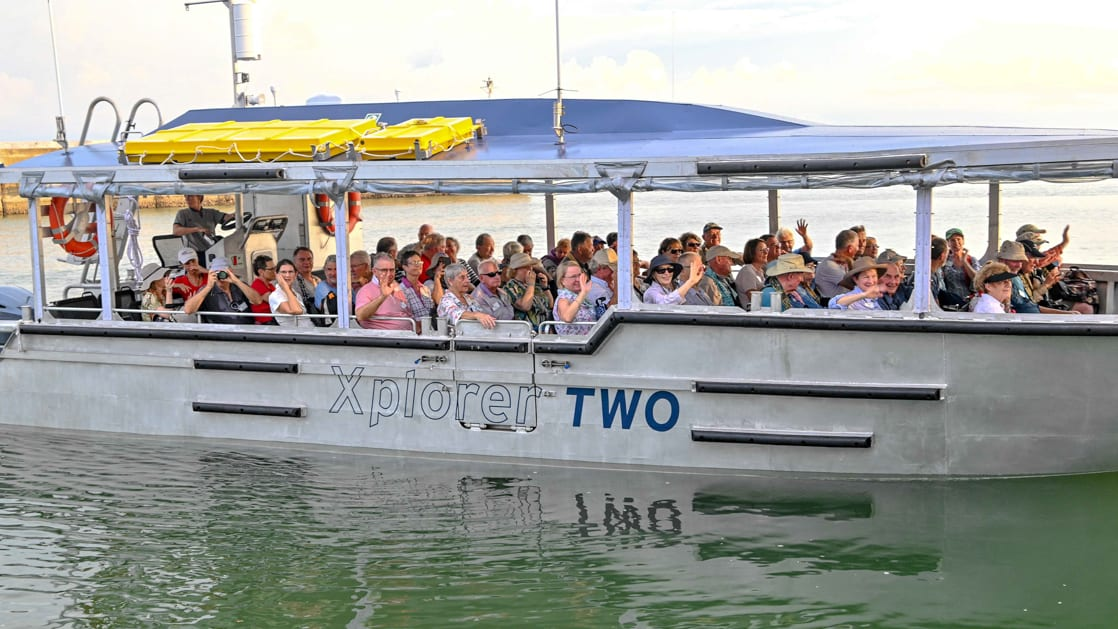 Guests on the xplorer tender going ashore.