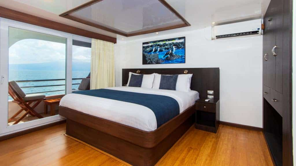 Standard cabin with double bed aboard Cormorant