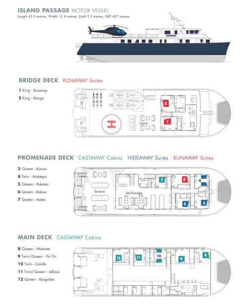 Island Passage 3 floor deck plan
