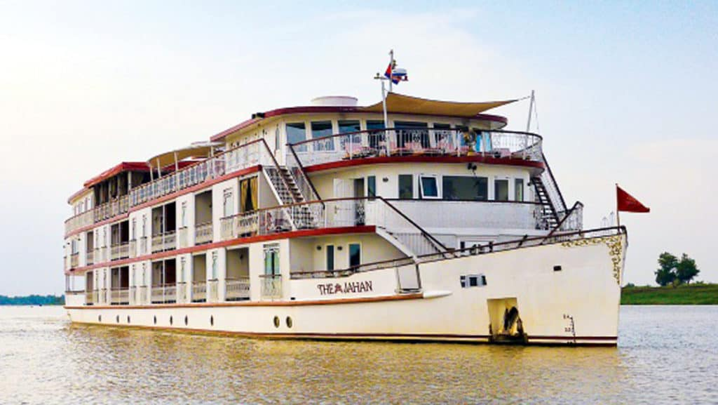 Built in 2011, the Jahan is the finest ship on the Mekong River.