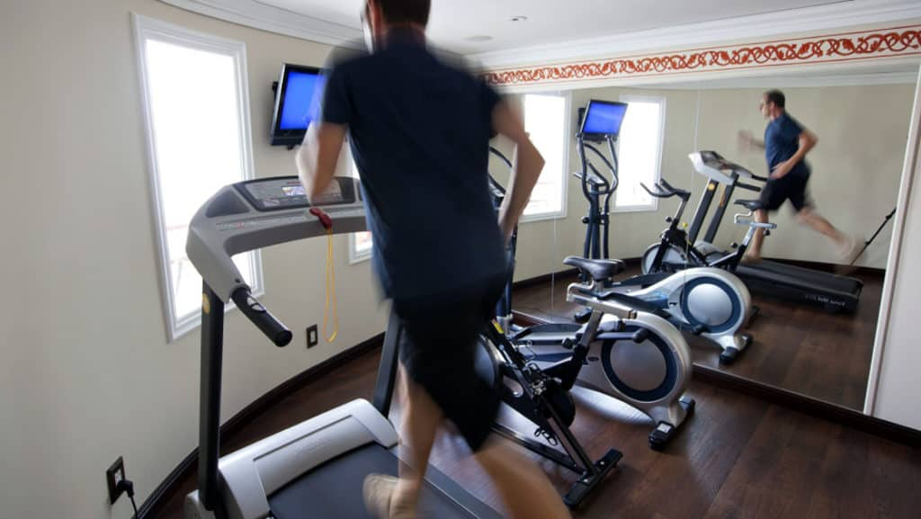 Jahan features an exercise room and daily Tai Chi stretching.