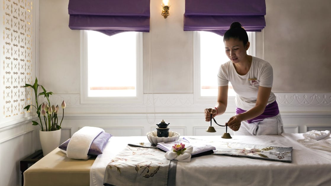 The ship's Apsara Spa offers a broad range of massages and pampering treatments.