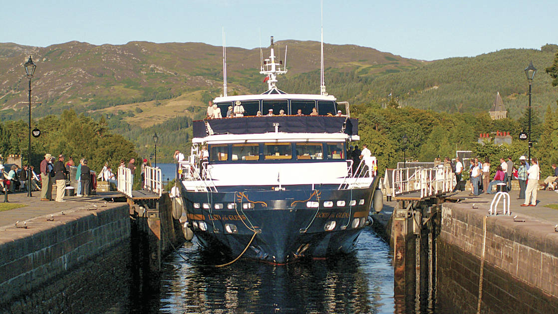 Lord of the Glens small ship cruise in Ft. Augustus, Scotland