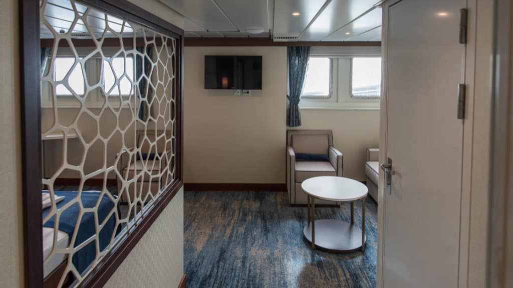 Owner's Suite aboard Ocean Adventurer. Photo by: Rogelio Espinosa/Quark Expeditions