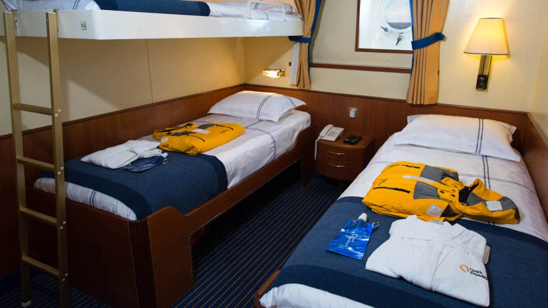 Triple Cabin aboard Ocean Adventurer. Photo by: Rogelio Espinosa/Quark Expeditions