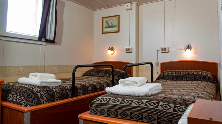 Premier Twin Cabin Aboard Ushuaia. Photo by: Antarpply Expeditions