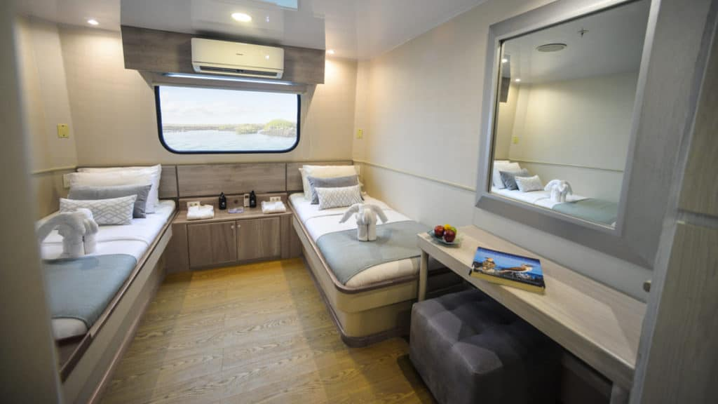 Standard Ocean View with twin beds aboard Seaman Journey