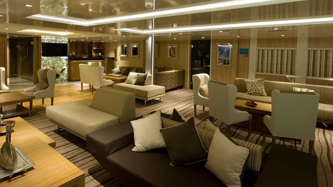 Main lounge and reception area aboard Varitey Voyager.