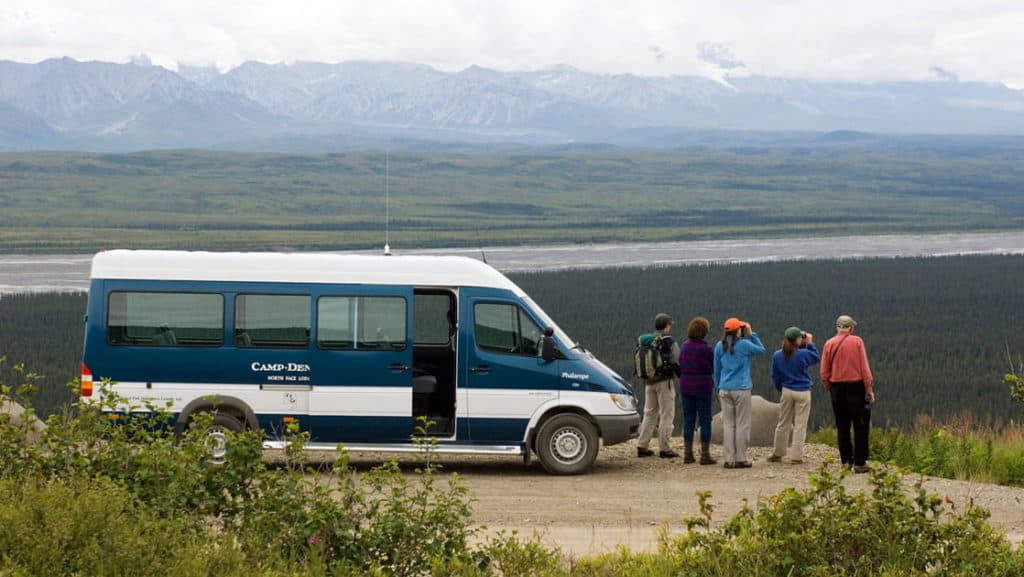 A scenic drive through the park leads to Camp Denali. Photo courtesy Camp Denali