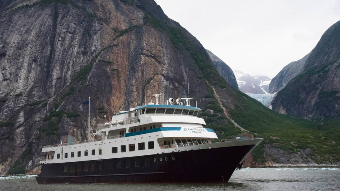 Chichagof Dream cruising through the fjords of ALaska.
