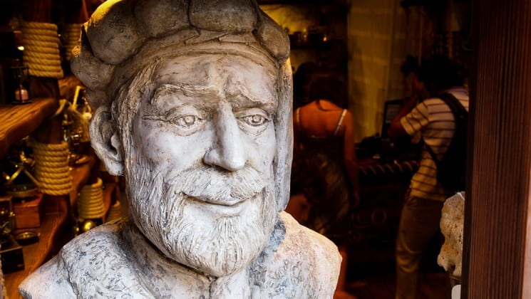bust statue of a man seen on the croatia island hopper mediterranean small ship cruise