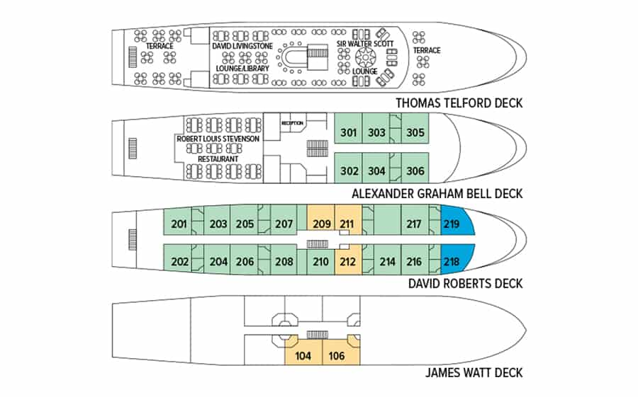 Lord of the Glens 4 floor deck plan.
