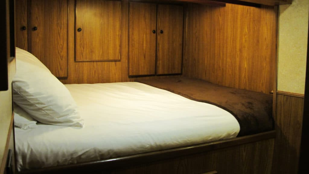 Twin bed aboard Misty Fjord