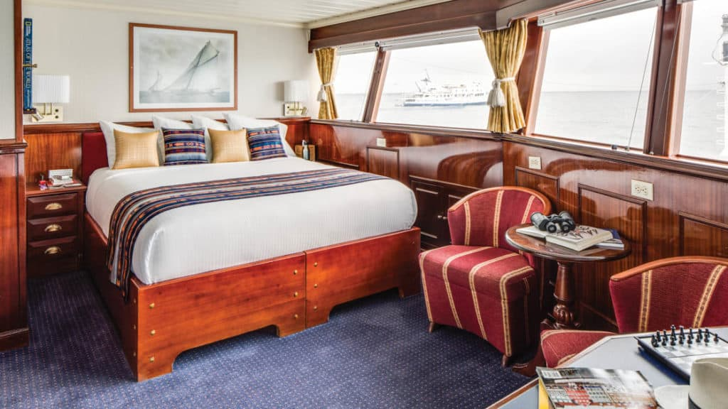 Category 5 cabin aboard National Geographic Islander. Photo by: Marco Ricca