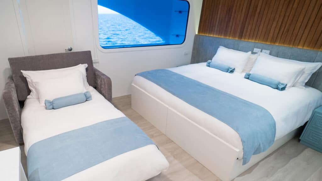 Stateroom with sofa bed aboard Ocean Spray