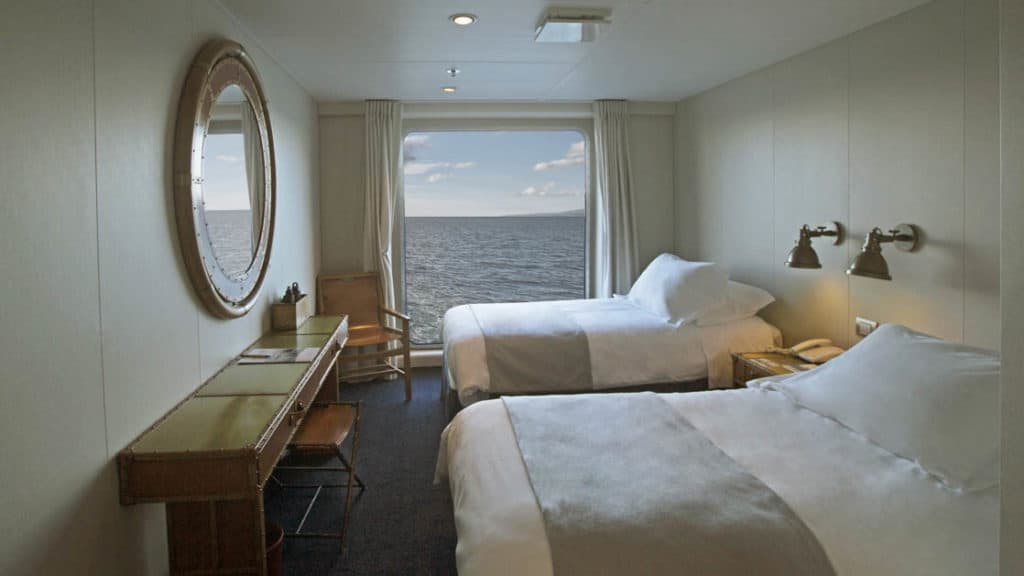 Category AAA cabin with two twin beds aboard Ventus Australis