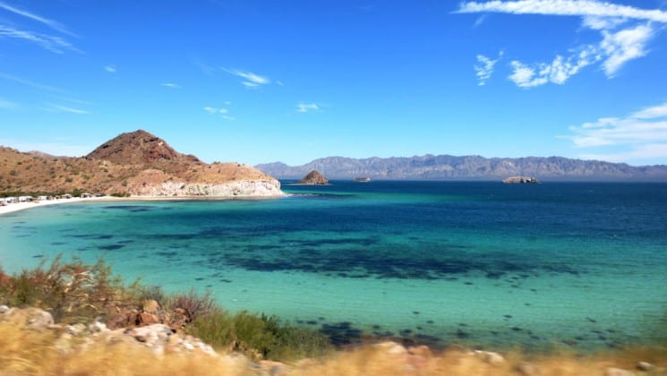 sea of cortez and beach in baja california