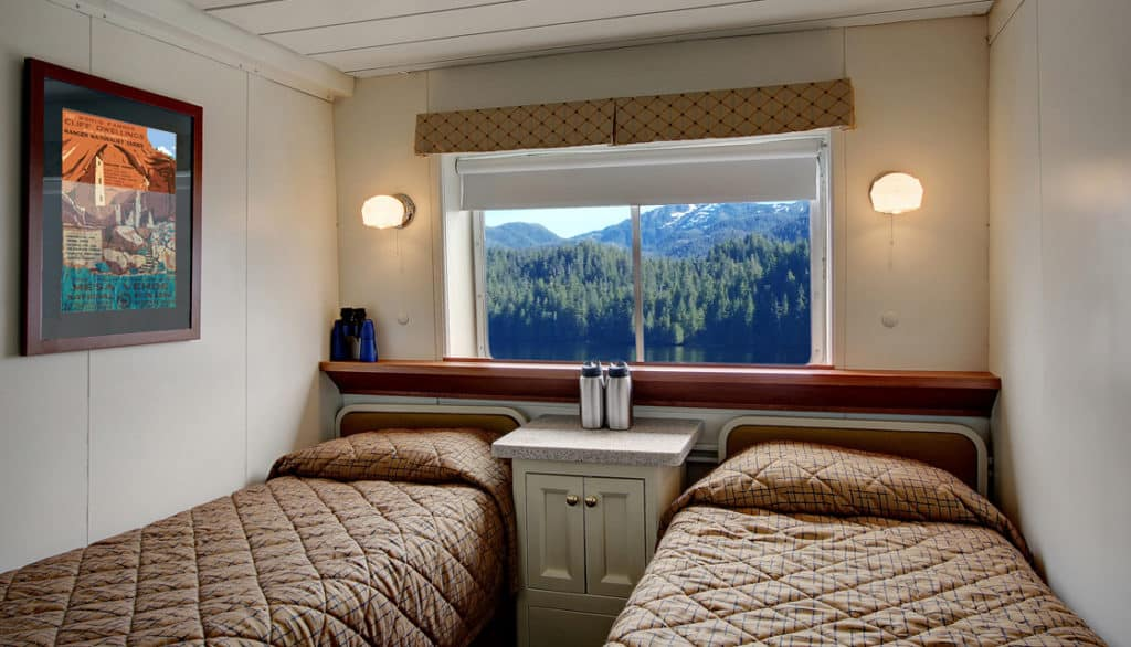 Navigator cabin with twin beds aboard Wilderness Adventurer