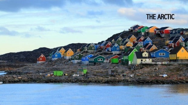 A small village with colorful houses