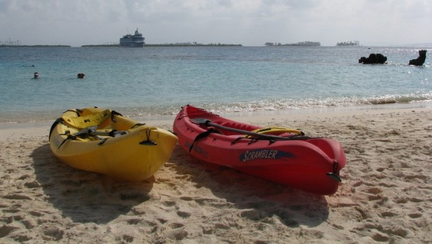 Romantic kayak excursion from a small ship cruise in Costa Rica and the Panama Canal.