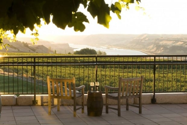 Romantic winery excursion on a small ship river cruise in the Pacific Northwest.