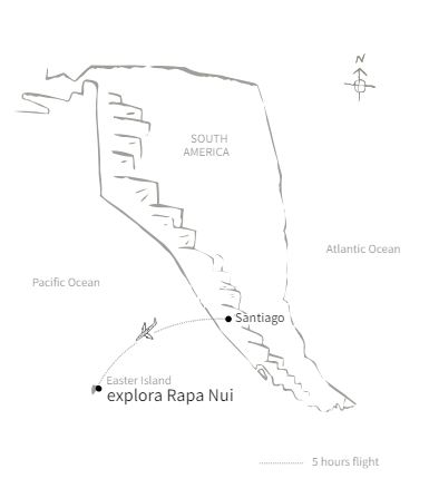 Explora Rapa Nui route map.