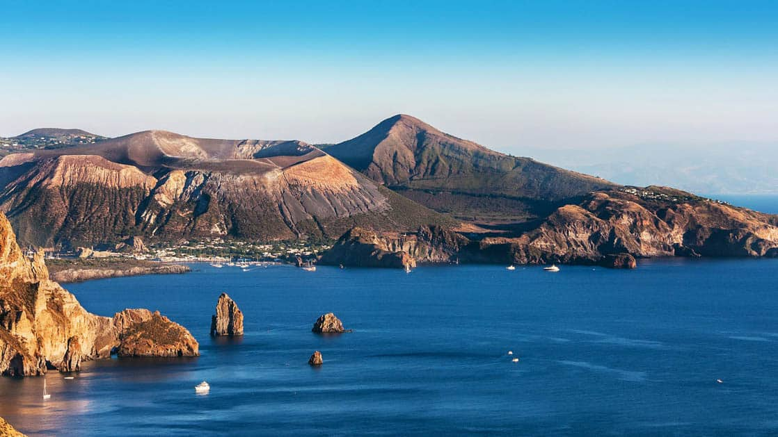Lipari island, the largest of the Aeolian Islands in Italy