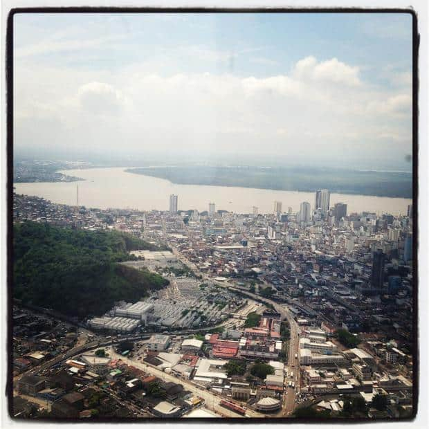 View of Guayaquil, Ecuador on a land tour.